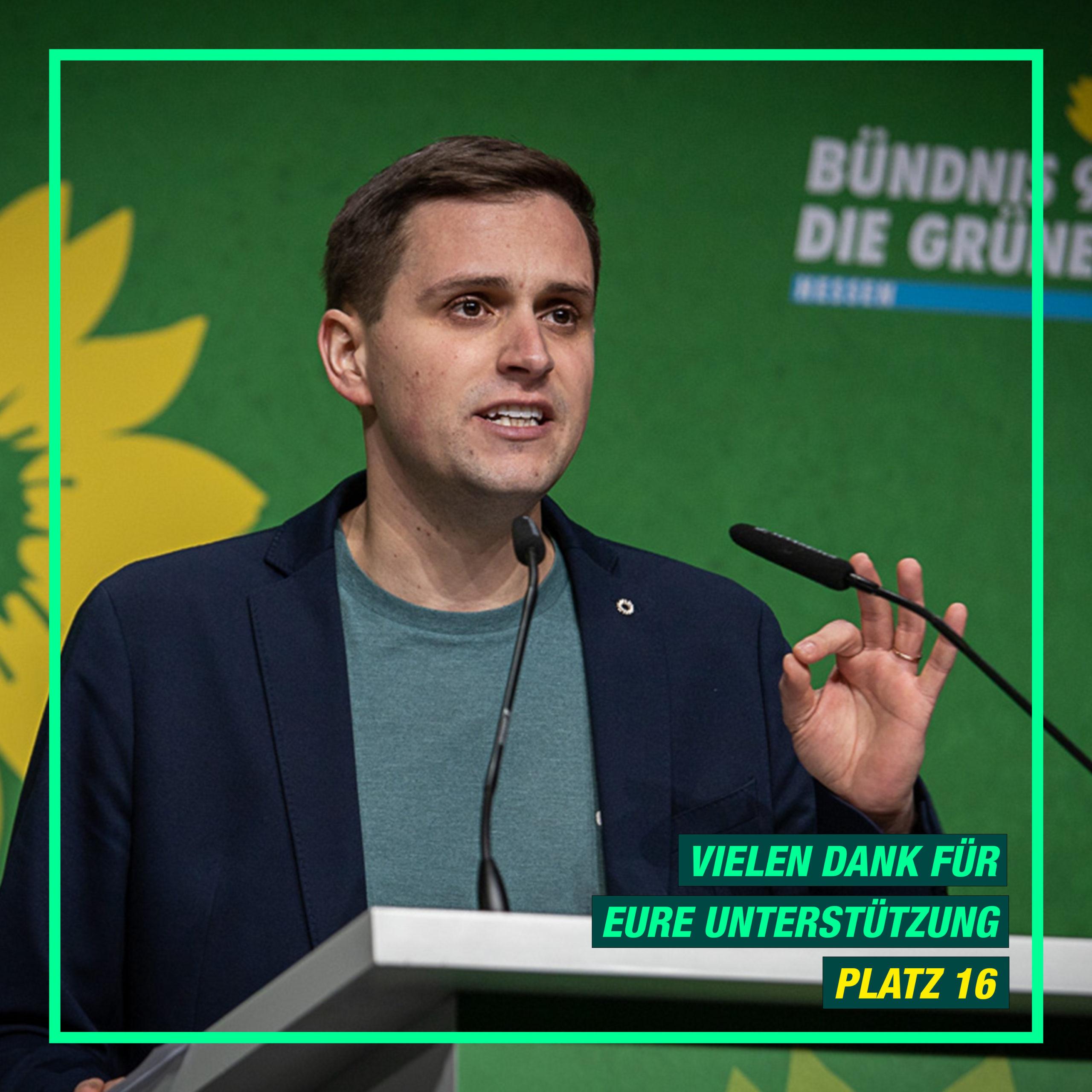 Vielen Dank für eure Unterstützung – Moritz Müller auf Platz 16 für den Bundestag