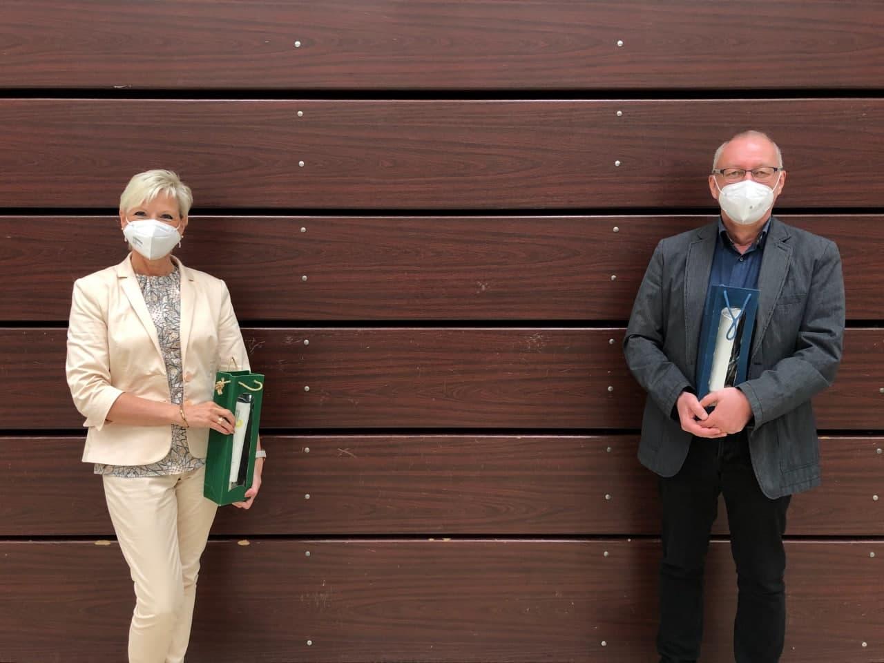 Silke Renz und Jochen Ruoff im Kreisauschuss