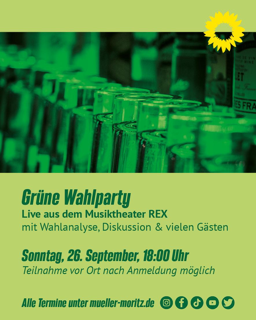 Grüne Wahlparty zur Bundestagswahl