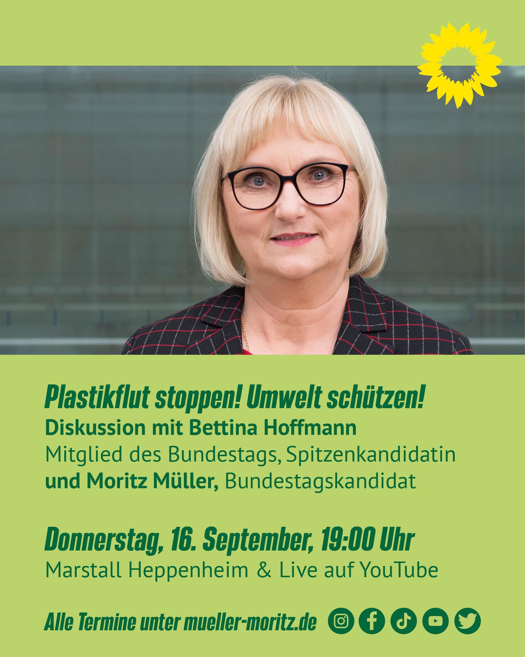 Veranstaltung und Stream 16.9: Plastikflut stoppen! Umwelt schützen!